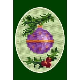 Online pattern - Christmas card- Christmas bauble