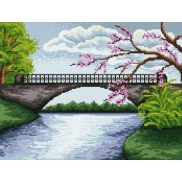 Online pattern - The bridge with the blooming tree