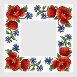 Online pattern - Napkin with wild flowers