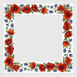 Online pattern - Table-cloth with wild flowers