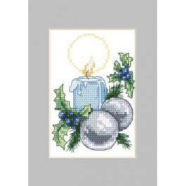 W 4877-01 Online pattern - Christmas card- Candle