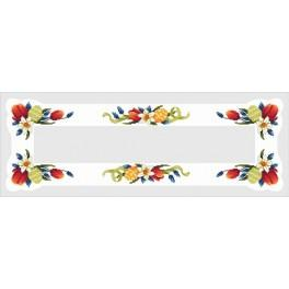 Online pattern - Table runner with easter eggs