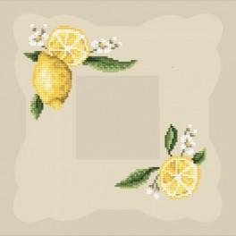 Online pattern - Napkin with lemon