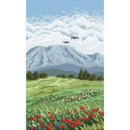 Online pattern - Triptych - flowery meadow