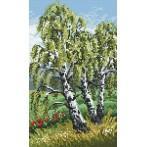 Online pattern - Triptych - slender birch