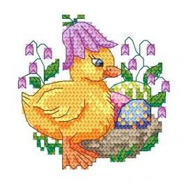 W 4921 Online pattern - Duck with bellflower