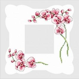 Online pattern - Napkin with orchids