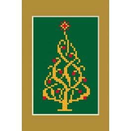 W 4948-02 Online pattern - Christmas card - Shiny christmas tree