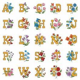 W 4978 Online pattern - Alphabet with flowers