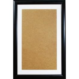 Wooden frame - black colour - white passe-partout (32,6x52,1cm)
