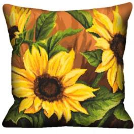 Online pattern - Pillow with sunflowers