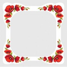 Pattern online - Tablecloth with poppies