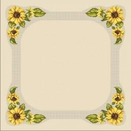 W 10008 Online pattern - Tablecloth with sunflowers