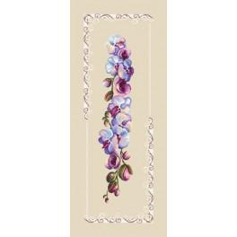 Online pattern - Table runner - Royal orchids