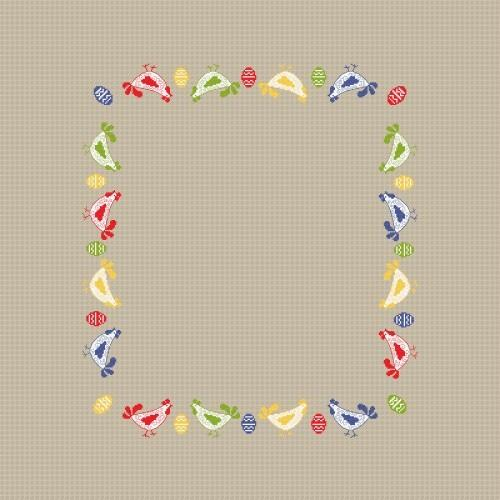 Online pattern - Dishcloth with little hens