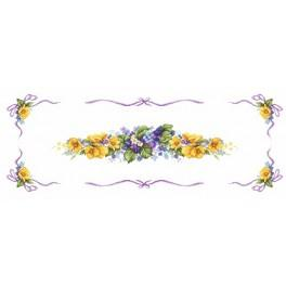 W 10047 Online pattern - Spring table runner
