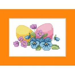W 8625-02 ONLINE pattern pdf - Easter card - Easter eggs