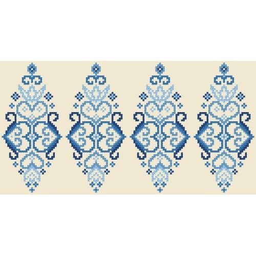 Pattern online - Easter egg - blue arabesque