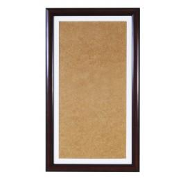 Wooden frame - colour hazelnut - white psp (22,4x40,8cm)