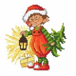 Cross stitch pattern - Christmas gnome