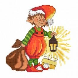 Cross stitch pattern - Santa Claus gnome