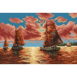 GC 4007 Cross stitch pattern - Sailing boats