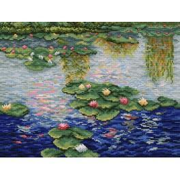 GC 4011 Cross stitch pattern - Water lillies - Claude Monet