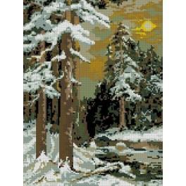Forest at twilight - Cross Stitch pattern