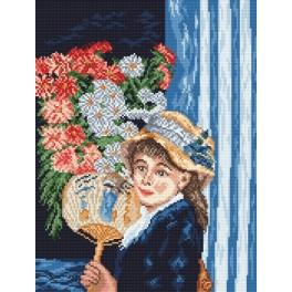 Girl with a fan - A. Renoir - Cross Stitch pattern