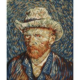 Self-portrait - V. van Gogh - Cross Stitch pattern