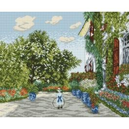 Monet's garden in Argenteuil - Claude Monet - Cross Stitch pattern