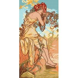 Summer - A. Mucha - Cross Stitch pattern