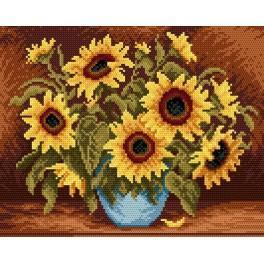 GC 4019 Cross stitch pattern - Sunflowers