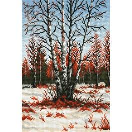 GC 4021 Cross stitch pattern - Birches