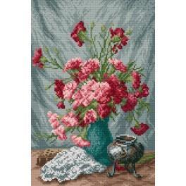 GC 4022 Cross stitch pattern - Carnations - Francois Rivoire