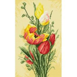 Spring tulips - Cross Stitch pattern