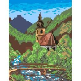 Little church - Cross Stitch pattern