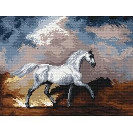 Horses during the storm - Cross Stitch pattern