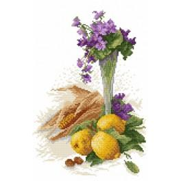 Still life- violets - Cross Stitch pattern