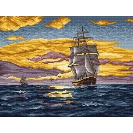 Frigate - Cross Stitch pattern