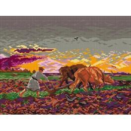 GC 426 Cross stitch pattern - Ploughing