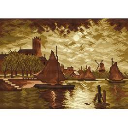 Cloudy evening - Cross Stitch pattern