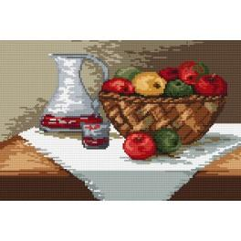 Apples in basket - Cross Stitch pattern