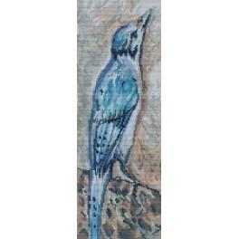 A. Śliwa-Klara - Bird on a rock - Cross Stitch pattern