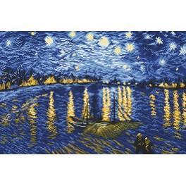Starry Night Over the Rhone - V. van Gogh - Cross Stitch pattern
