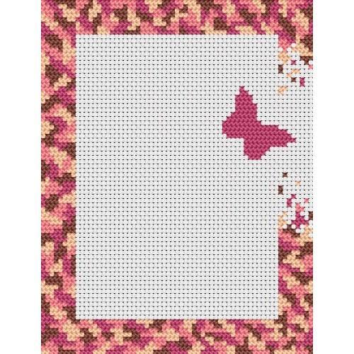 Flying out butterfly - R. Čermáková - Cross Stitch pattern