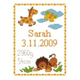 GC 4429 Cross stitch pattern - My birthday - Wild animals