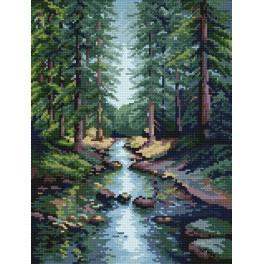 GC 4532 Cross stitch pattern - Forest stream