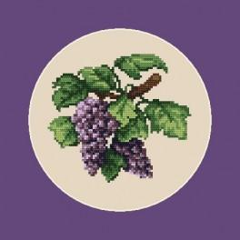 Dark grapes - B. Sikora-Malyjurek - Cross Stitch pattern