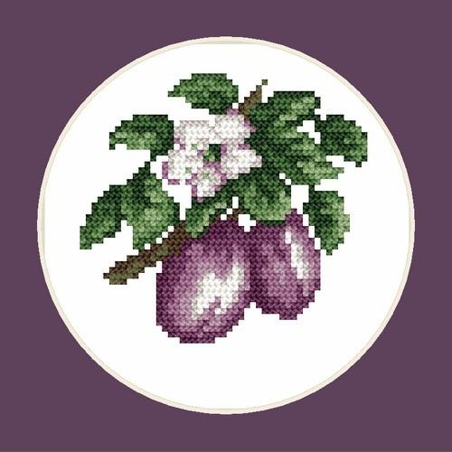Delicious plums - B. Sikora-Malyjurek - Cross Stitch pattern